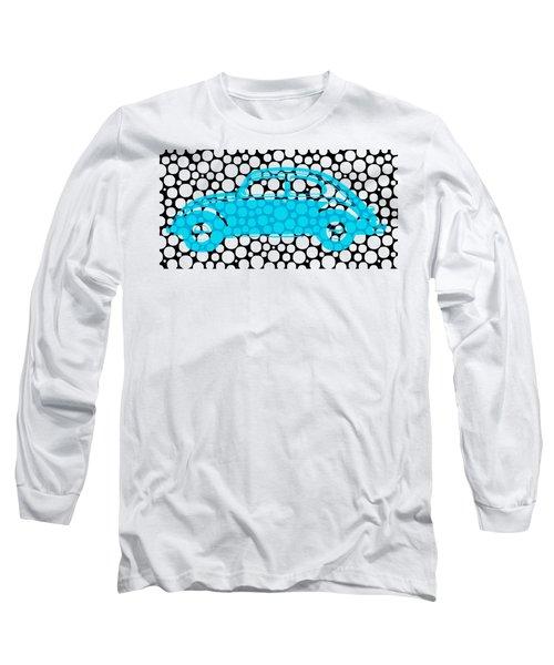 Bubble Car Vw Beetle Long Sleeve T-Shirt by Edward Fielding