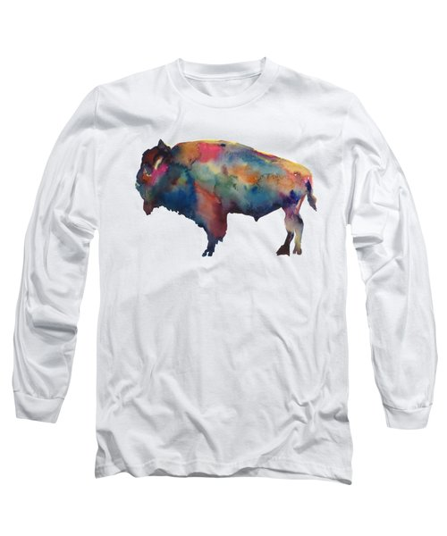 Buffalo Long Sleeve T-Shirt by Marybeth Cunningham