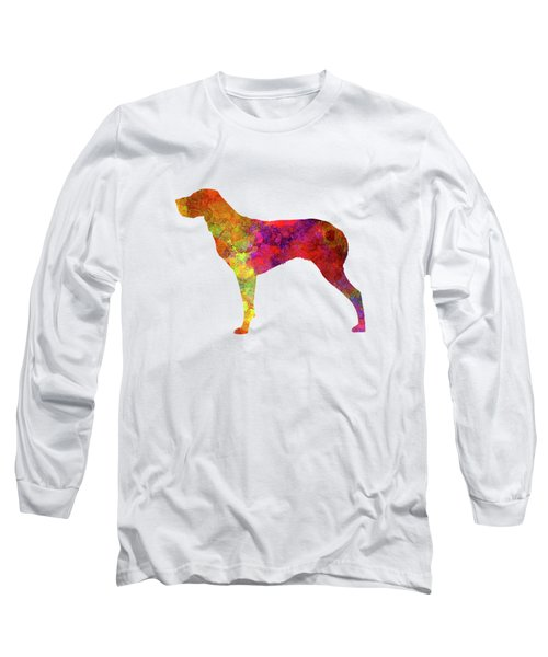 Burgos Pointer In Watercolor Long Sleeve T-Shirt by Pablo Romero