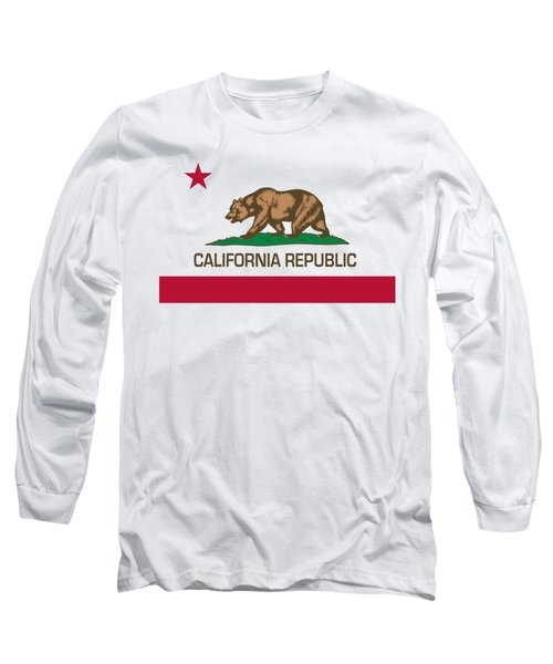 California Republic State Flag Authentic Version Long Sleeve T-Shirt by Bruce Stanfield