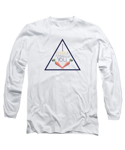 Carrot About You Pyramid Long Sleeve T-Shirt by Lunar Harvest Designs