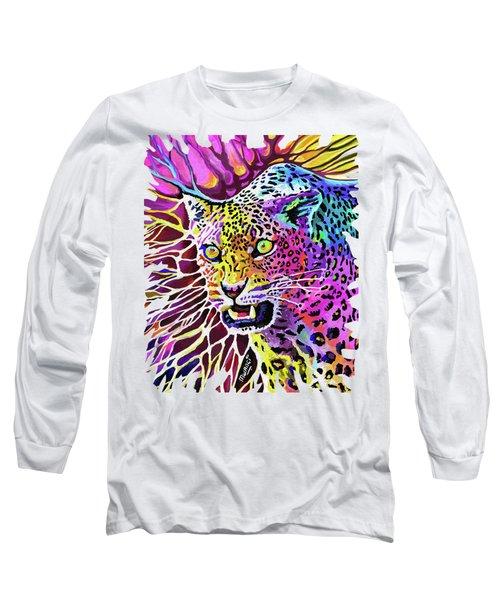 Cat Beauty Long Sleeve T-Shirt by Anthony Mwangi