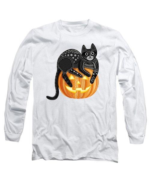Cattober Long Sleeve T-Shirt by Veronica Kusjen