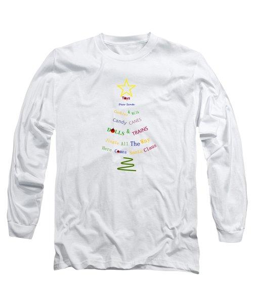 Children Holiday Tree Long Sleeve T-Shirt by Kathleen Sartoris