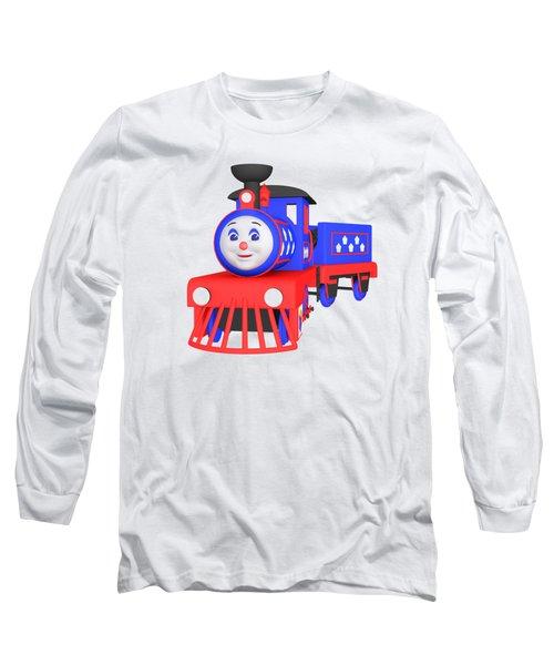 Choo-choo The Train - 1 Long Sleeve T-Shirt by Yulia Litvinova