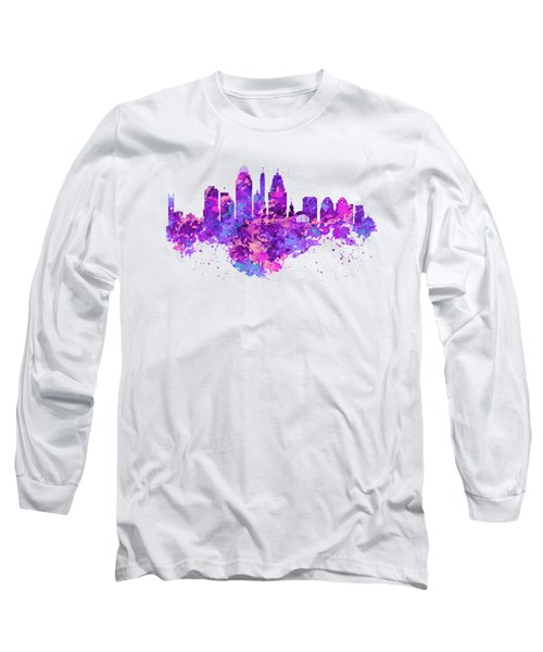 Cincinnati Skyline Long Sleeve T-Shirt by Marian Voicu