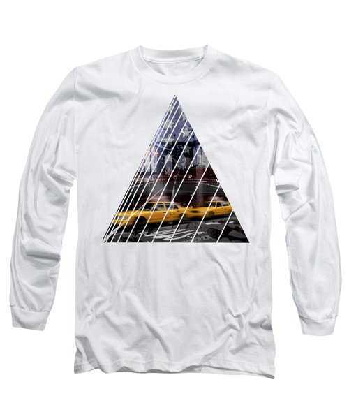 City-art Nyc Composing Long Sleeve T-Shirt by Melanie Viola