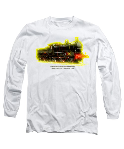 Classic British Steam Locomotive Long Sleeve T-Shirt by Heidi De Leeuw