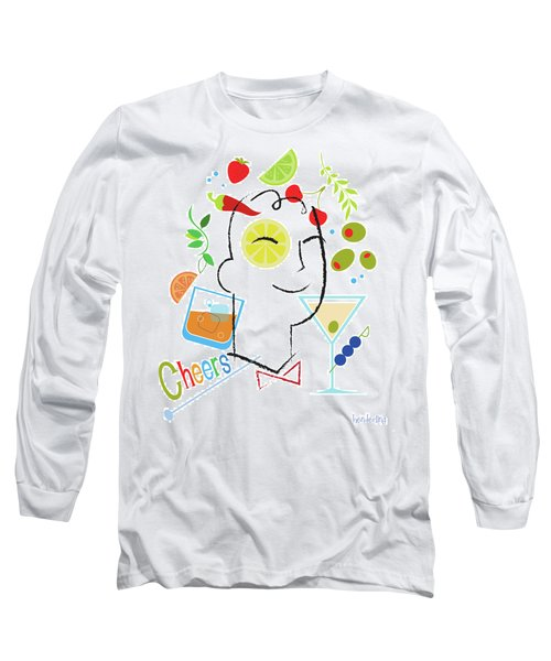 Cocktail Time Long Sleeve T-Shirt by Lisa Henderling