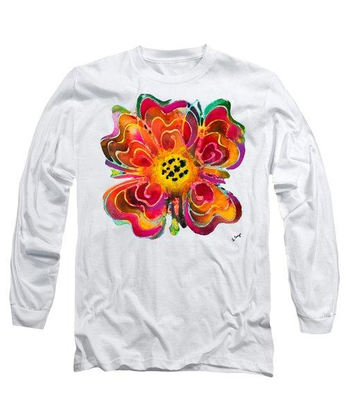 Colorful Flower Art - Summer Love By Sharon Cummings Long Sleeve T-Shirt by Sharon Cummings