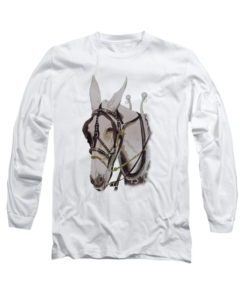 Connie The Mule Long Sleeve T-Shirt by Gary Thomas