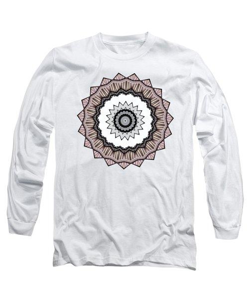 Construction Mandala By Kaye Menner Long Sleeve T-Shirt by Kaye Menner