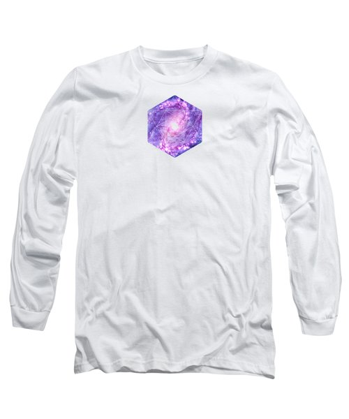 Cosmic Vacuum Cleaner Spiral Galaxy M83 Long Sleeve T-Shirt by Philipp Rietz