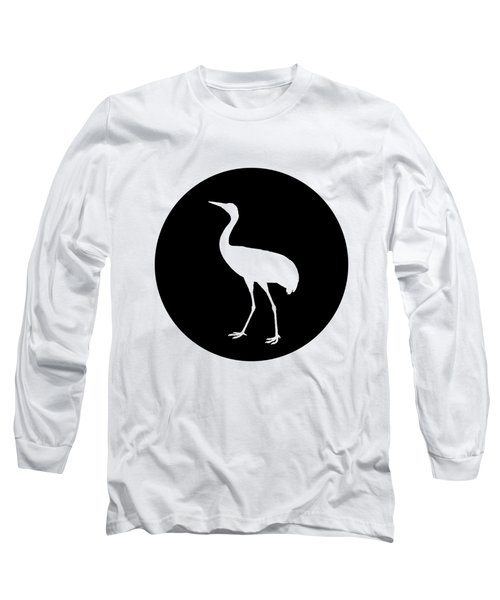 Crane Long Sleeve T-Shirt by Mordax Furittus