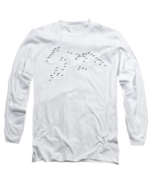 Cranes Return Long Sleeve T-Shirt by Jan Carr