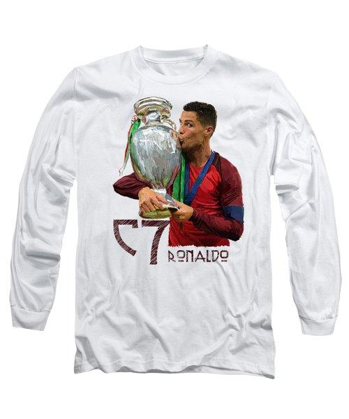 Cristiano Ronaldo Long Sleeve T-Shirt by Armaan Sandhu