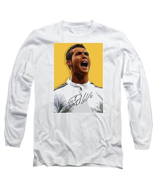 Cristiano Ronaldo Cr7 Long Sleeve T-Shirt by Semih Yurdabak