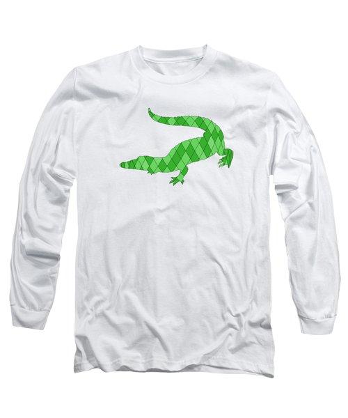Crocodile Long Sleeve T-Shirt by Mordax Furittus