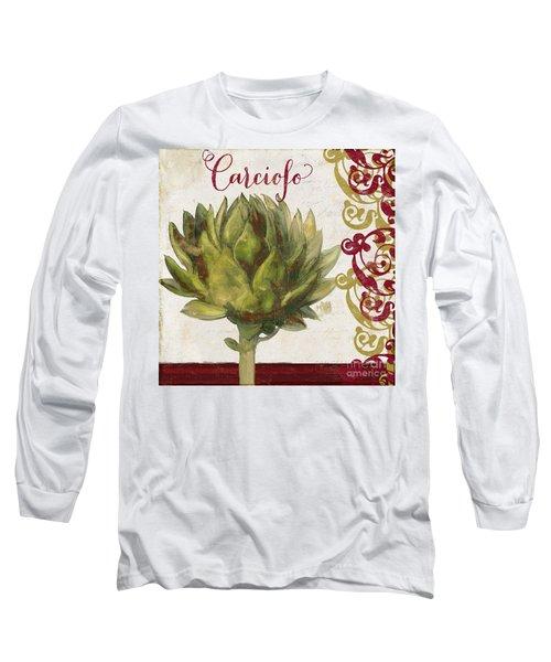Cucina Italiana Artichoke Long Sleeve T-Shirt by Mindy Sommers