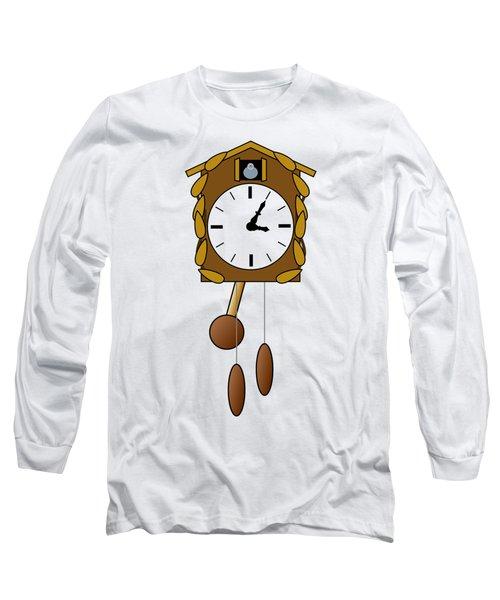 Cuckoo Clock Long Sleeve T-Shirt by Miroslav Nemecek