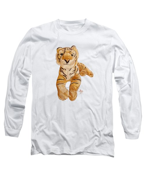 Cuddly Tiger Long Sleeve T-Shirt by Angeles M Pomata
