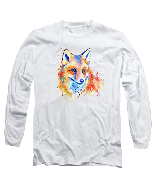 Cute Foxy Lady Long Sleeve T-Shirt by Marian Voicu