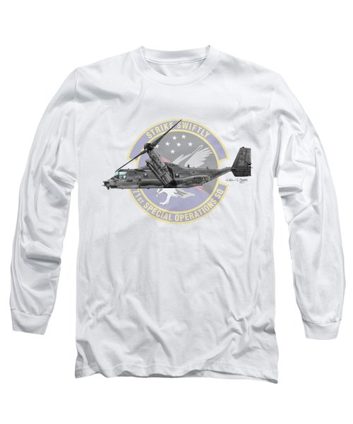 Cv-22b Osprey 71sos Long Sleeve T-Shirt by Arthur Eggers