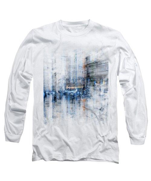 Cyber City Design Long Sleeve T-Shirt by Martin Capek