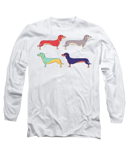 Dachshunds Long Sleeve T-Shirt by Kelly Jade King