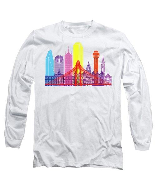 Dallas Skyline Pop Long Sleeve T-Shirt by Pablo Romero