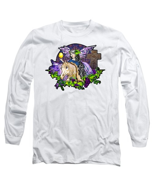 Dark Tales Of Fairy Eve And The Dragons Of Eden Long Sleeve T-Shirt by Janice Moore