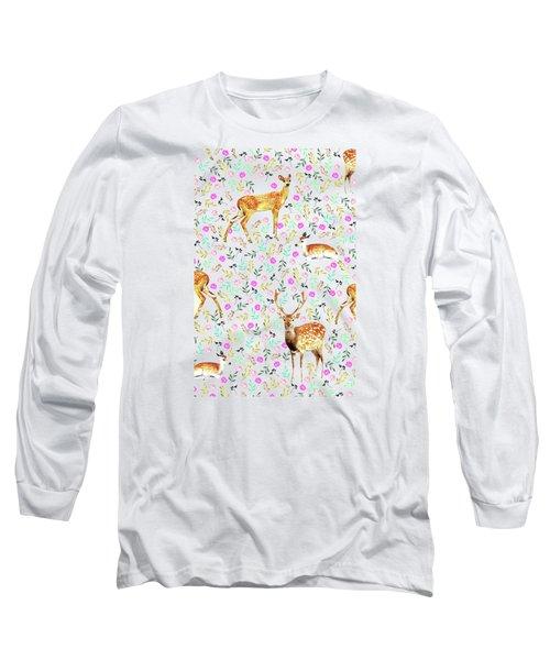Deers Long Sleeve T-Shirt by Uma Gokhale