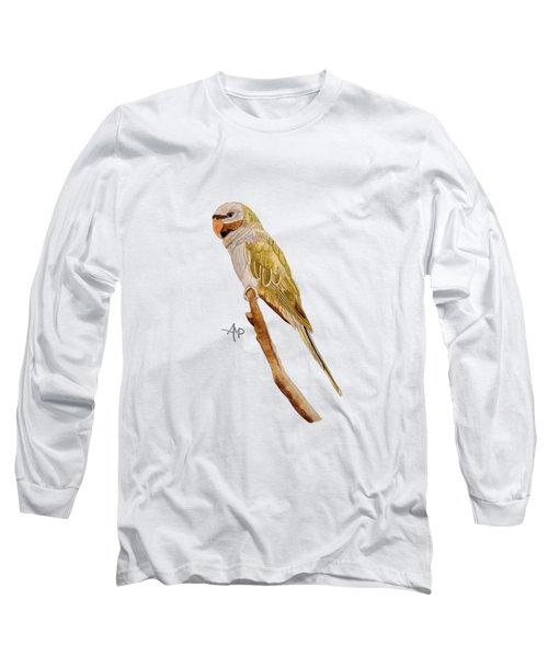 Derbyan Parakeet Long Sleeve T-Shirt by Angeles M Pomata