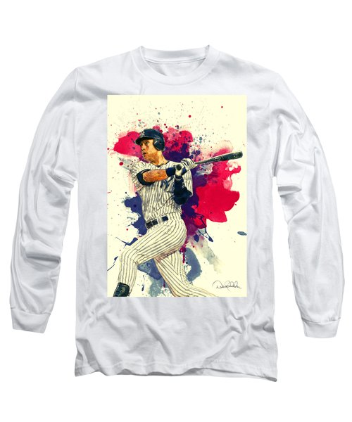 Derek Jeter Long Sleeve T-Shirt by Taylan Apukovska