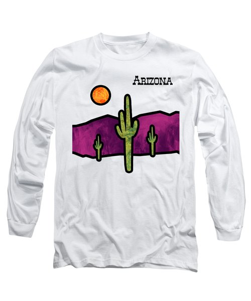 Desert Stained Glass Long Sleeve T-Shirt by Methune Hively