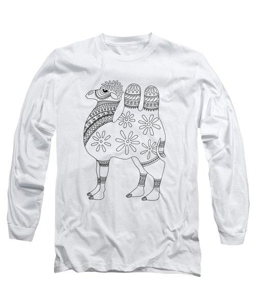 Difficult Camel Long Sleeve T-Shirt by Sarah Rosedahl