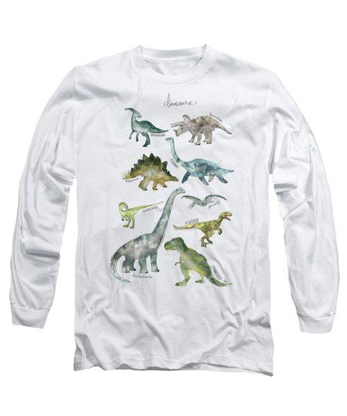 Dinosaurs Long Sleeve T-Shirt by Amy Hamilton