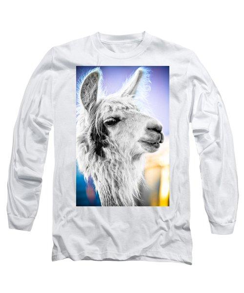 Dirtbag Llama Long Sleeve T-Shirt by TC Morgan