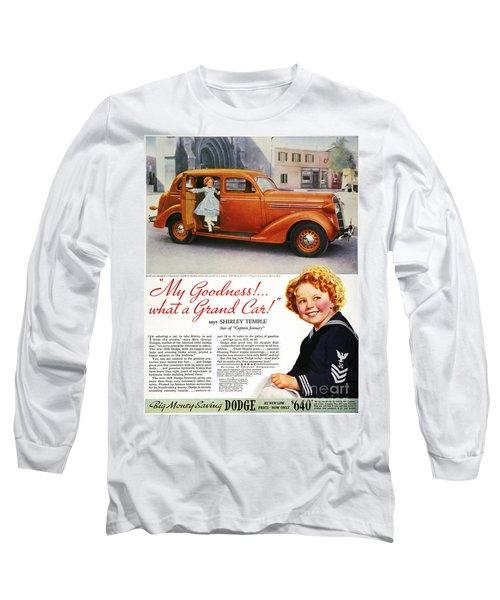 Dodge Automobile Ad, 1936 Long Sleeve T-Shirt by Granger