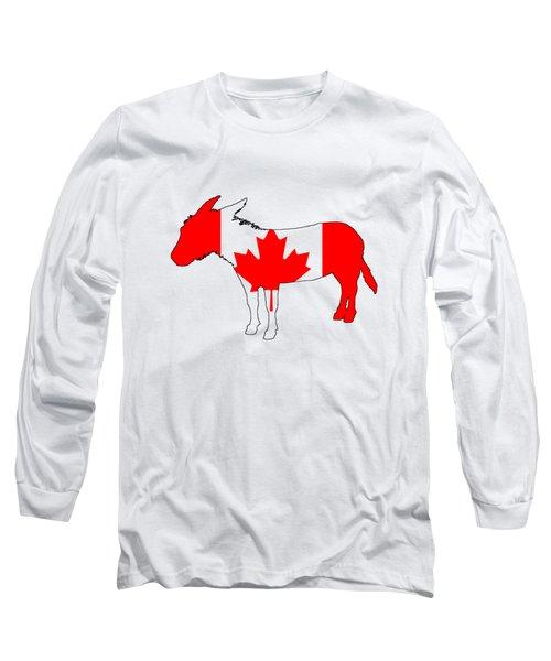 Donkey Canada Long Sleeve T-Shirt by Mordax Furittus