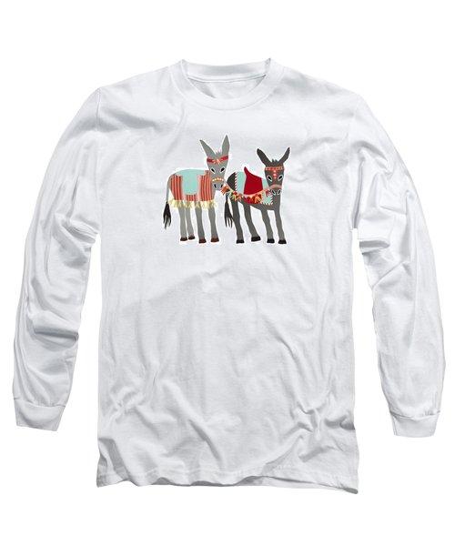Donkeys Long Sleeve T-Shirt by Isoebl Barber
