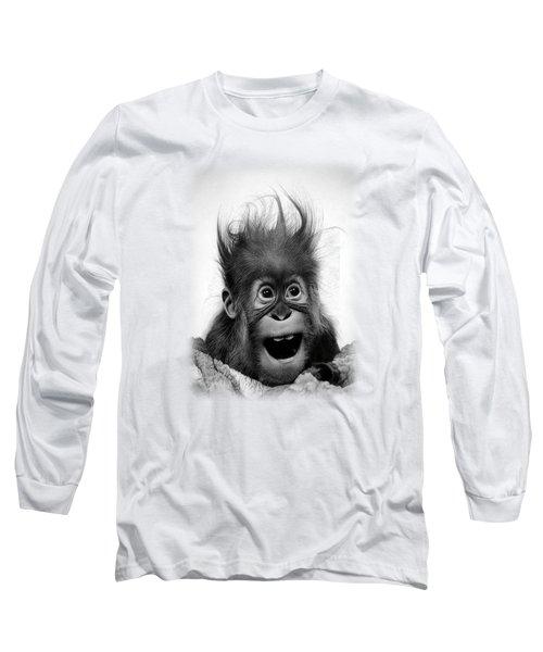 Don't Panic Long Sleeve T-Shirt by Miro Gradinscak