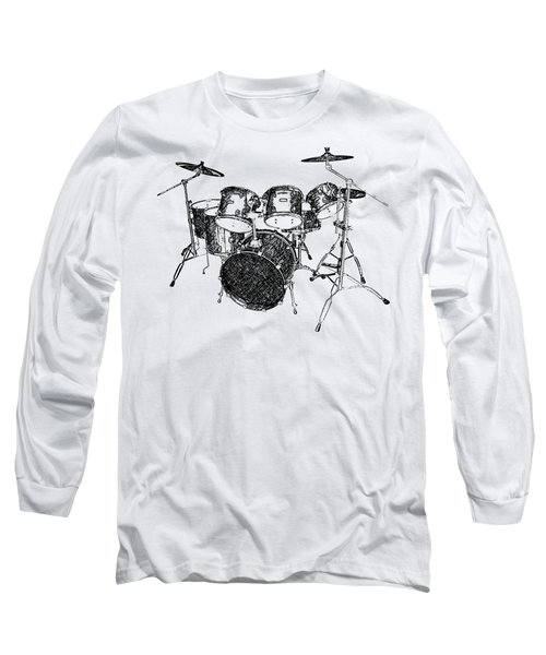 Drums Long Sleeve T-Shirt by Birgitta