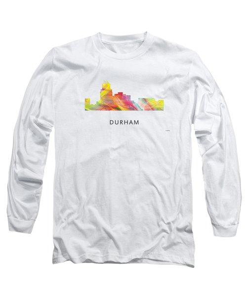 Durham North Carolina Skyline Long Sleeve T-Shirt by Marlene Watson
