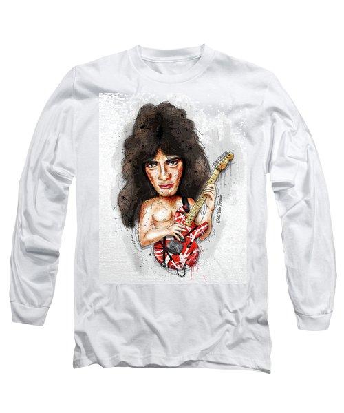 Eddie Van Halen Long Sleeve T-Shirt by Gary Bodnar
