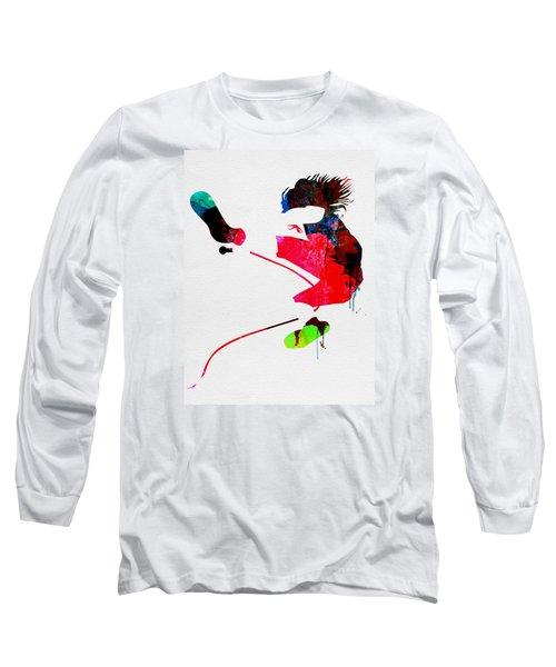 Eddie Watercolor Long Sleeve T-Shirt by Naxart Studio