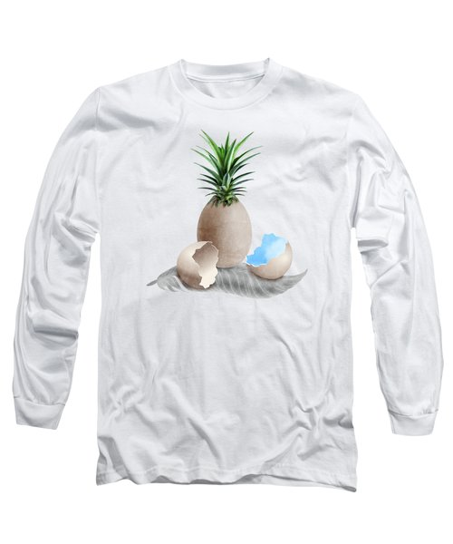 Eggs On A Feather Long Sleeve T-Shirt by Absentis Designs