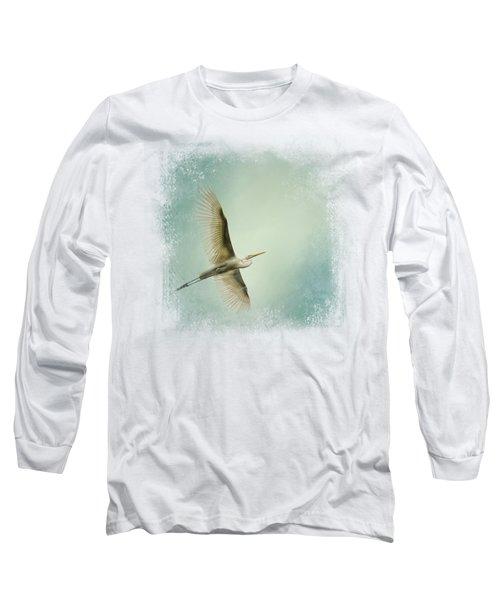 Egret Overhead Long Sleeve T-Shirt by Jai Johnson