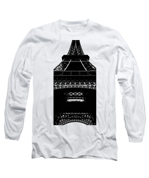 Eiffel Tower Paris Graphic Phone Case Long Sleeve T-Shirt by Edward Fielding