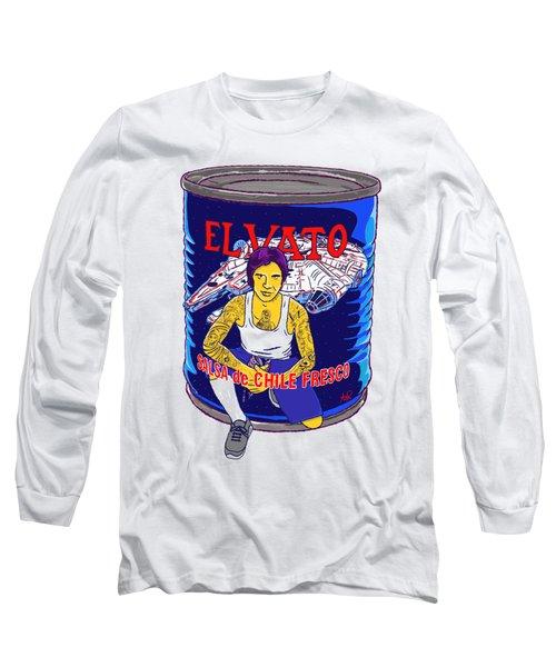 El Vato 4 Long Sleeve T-Shirt by Armando Padilla